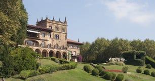 Castle look a like house in Getxo, Bilbao Spain Stock Photos