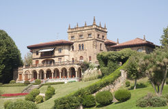 Castle look a like house in Getxo, Bilbao Spain Stock Photo