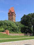 Castle and the Lookout tower in Tangermuende, Germany Stock Image
