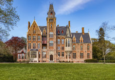 Castle Loppem. Loppem Castle is a castle situated in Loppem in the municipality of Zedelgem, near Bruges in West Flanders, in the Flemish Region of Belgium royalty free stock photo