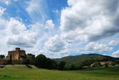 Castle in Lourmarin Royalty Free Stock Photos