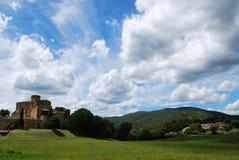 Castle in Lourmarin Royalty Free Stock Photos