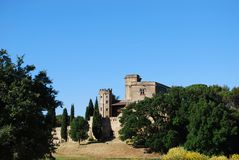 Castle in Lourmarin Royalty Free Stock Image