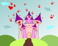 Castle of love Royalty Free Stock Images