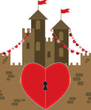 Castle of love Stock Image