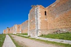 Castle of Lucera. Puglia. Italy. Stock Photos