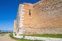 Castle of Lucera. Puglia. Italy. Royalty Free Stock Photos