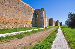 Castle of Lucera. Puglia. Italy. Stock Image