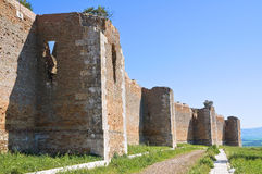 Castle of Lucera. Puglia. Italy. Stock Photo