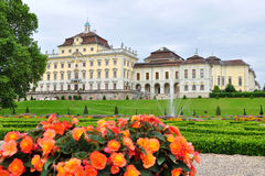 Castle Ludwigsburg in Germany. Ludwigsburg Palace (German: Schloss Ludwigsburg) is a historical building in the city of Ludwigsburg (12 km north of Stuttgart's Royalty Free Stock Photography