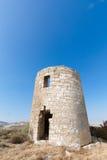 Castle of Luna (Aragon) in a summer day Stock Photos