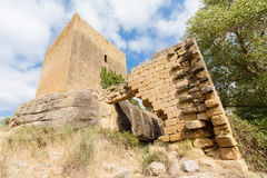 Castle of Luna (Aragon) in a summer day Stock Photo