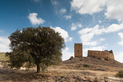 Castle of Luna (Aragon) in a summer day Royalty Free Stock Photos