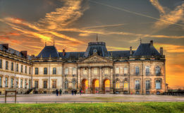 The castle of Luneville in the evening - France Royalty Free Stock Images