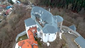 Castle of Lupca. In Slovakia stock footage