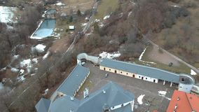 Castle of Lupca. In Slovakia stock video footage