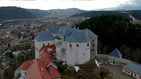Castle of Lupca. In Slovakia stock video