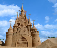 Castle made of sand Royalty Free Stock Image