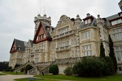 Castle of Magdalena. Santander. Spain. Castle of Magdalena on a cloudy day Stock Images