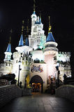 Castle in Magic Island, Lotte World, South Korea. Located in the heart of the city, Lotte World is the perfect spot for entertainment and sightseeing. It is a royalty free stock photos