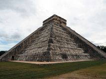The Castle, the main monument of Chichen Itza. Stock Photos