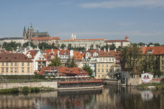Castle and mala strana prague czech republic europe Royalty Free Stock Images