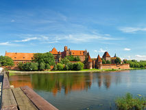 The castle Malbork royalty free stock images