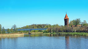 Castle in Malbork. Bridge Stock Images