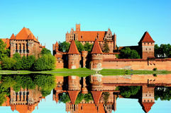 Castle at Malbork capital of the Teutonic Knights , the most powerful castle, Stock Image