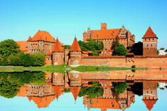 Castle at Malbork capital of the Teutonic Knights , the most powerful castle, Stock Images