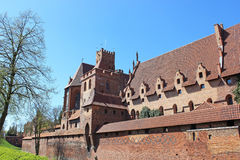 Castle in Malbork / Marienburg. Poland Stock Image