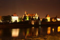 Castle in Malbork. The medieval castle of Teutonic Knights in Malbork, Poland Royalty Free Stock Photos