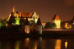 Castle in Malbork. The medieval castle of Teutonic Knights in Malbork, Poland Stock Image