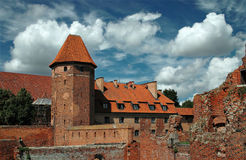 The castle in Malbork - Poland. Stock Photo