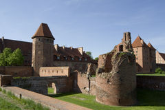 Castle in malbork poland Royalty Free Stock Photos