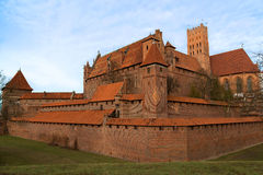 Castle in Malbork in Poland Stock Photography