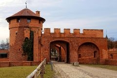 Castle in Malbork in Poland. Entrence gate Royalty Free Stock Photos