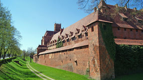 Castle in Malbork, Poland. Stock Photos
