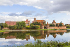 Castle in Malbork on the River Nogat, Poland Royalty Free Stock Photo