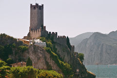 The Castle of Malcesine Stock Images