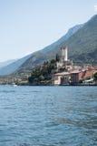 Castle of malcesine at lake garda, italy, Stock Photo
