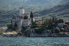 Castle of malcesine at lake garda, italy, Stock Photos