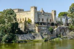 Castle at Malpica del Tajo, Toledo, Spain. Image of a castle at Malpica del Tajo, Toledo, Spain Royalty Free Stock Photos