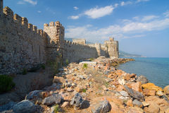 Castle Mamure Kalesi in Anamur, Turkey Stock Photo