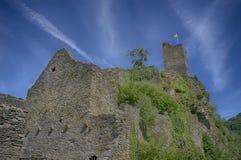 Castle Manderscheid. The Ruines of Burcht Manderscheid in the Eifel (Germany). This is the Niederburg Stock Image