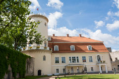 Castle Manor. Typical eclectic Castle Manor in Europe, Cesis New Castle Stock Image