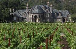 Castle mansion estate in vineyard Royalty Free Stock Images