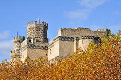 Castle Manzanares EL πραγματικό, Μαδρίτη, Ισπανία Στοκ φωτογραφίες με δικαίωμα ελεύθερης χρήσης