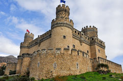 Castle Manzanares EL πραγματικό, Μαδρίτη, Ισπανία Στοκ εικόνα με δικαίωμα ελεύθερης χρήσης