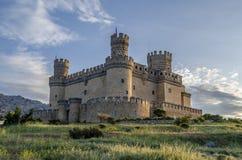 Castle Manzanares EL πραγματικό Στοκ Εικόνα